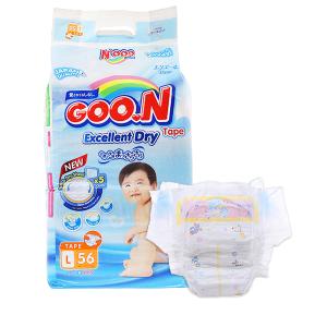 Tã dán Goon Excellent Dry size L 56 miếng (cho bé 9 - 14kg)