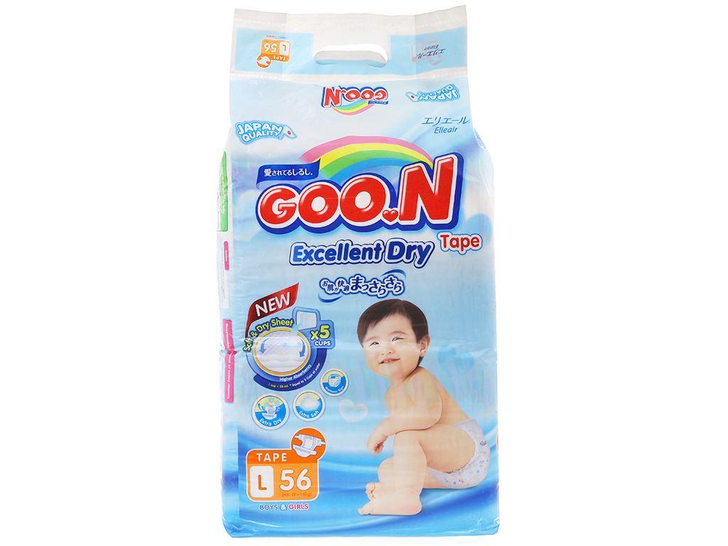 Tã dán Goo.n Excellent Dry size L 56 miếng (cho bé 9 - 14kg) 1