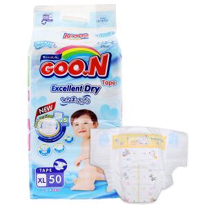 Tã dán Goon Excellent Dry Size XL 12 - 20kg (50 miếng)