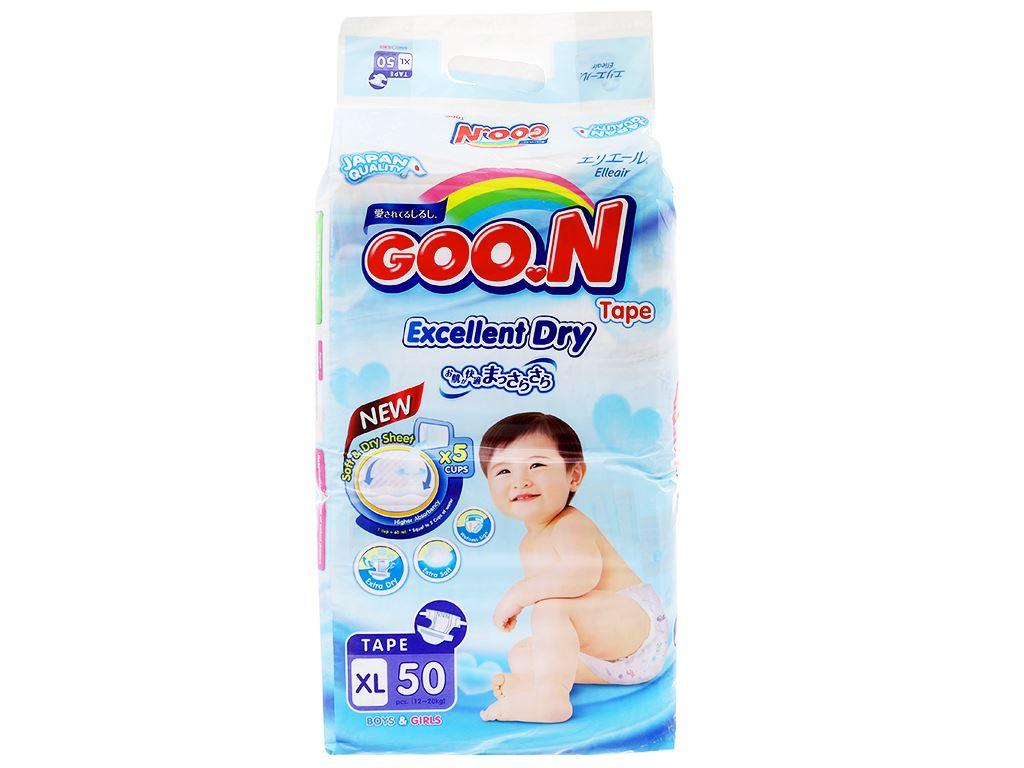 Tã dán Goon Excellent Dry Size XL 50 miếng (cho bé 12 - 20kg) 1