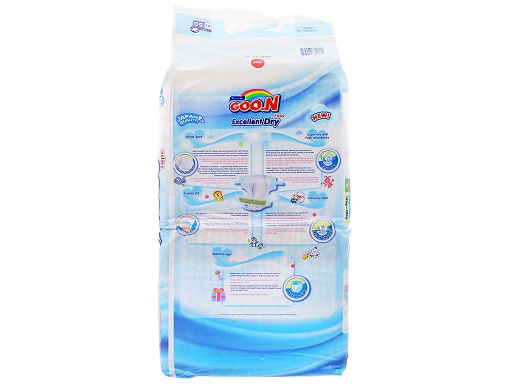 Tã dán Goon Excellent Dry Size XL 50 miếng (cho bé 12 - 20kg) 2
