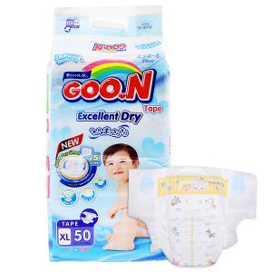 Tã dán Goon Excellent Dry size XL 50 miếng (cho bé 12 - 20kg)