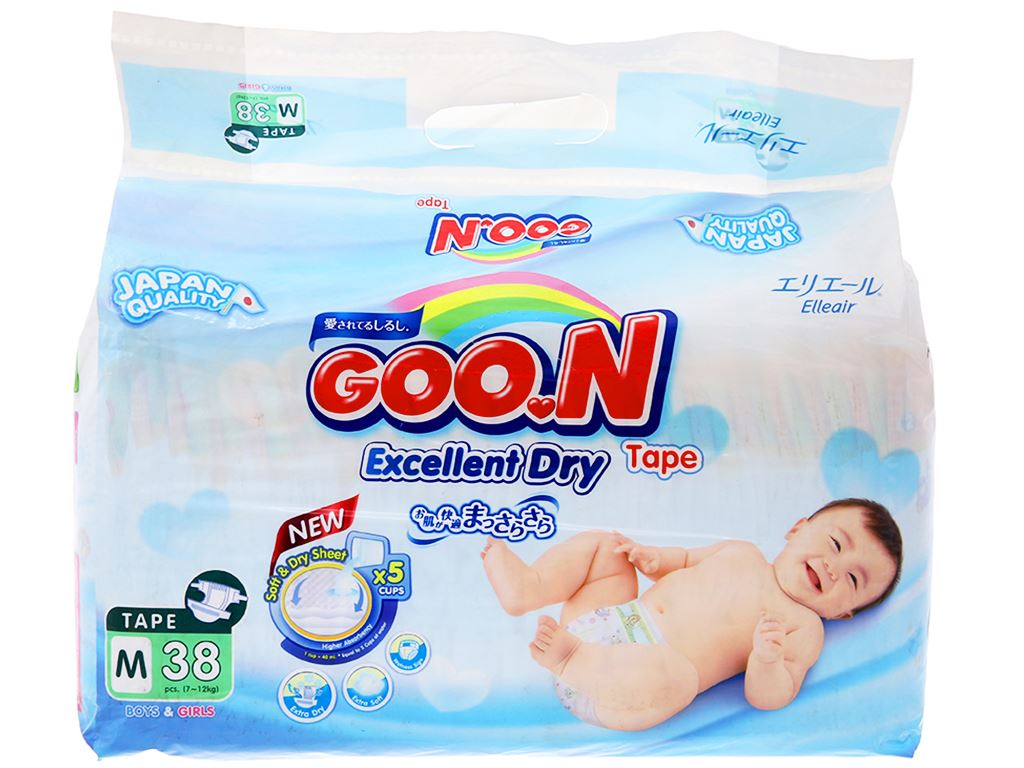 Tã dán Goo.n size M 38 miếng (cho bé 7 - 12kg) 1