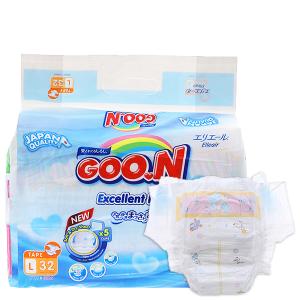 Tã dán Goon Excellent Dry Size L 9 - 14kg (32 miếng)