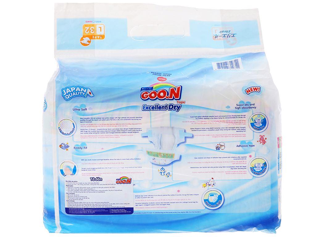 Tã dán Goo.n Excellent Dry size L 32 miếng (cho bé 9 - 14kg) 2