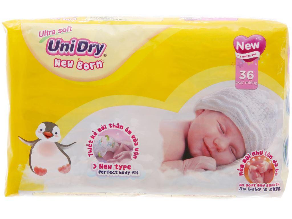 Tã dán Unidry Ultra Soft Newborn 36 miếng (cho bé dưới 1 tháng) 1