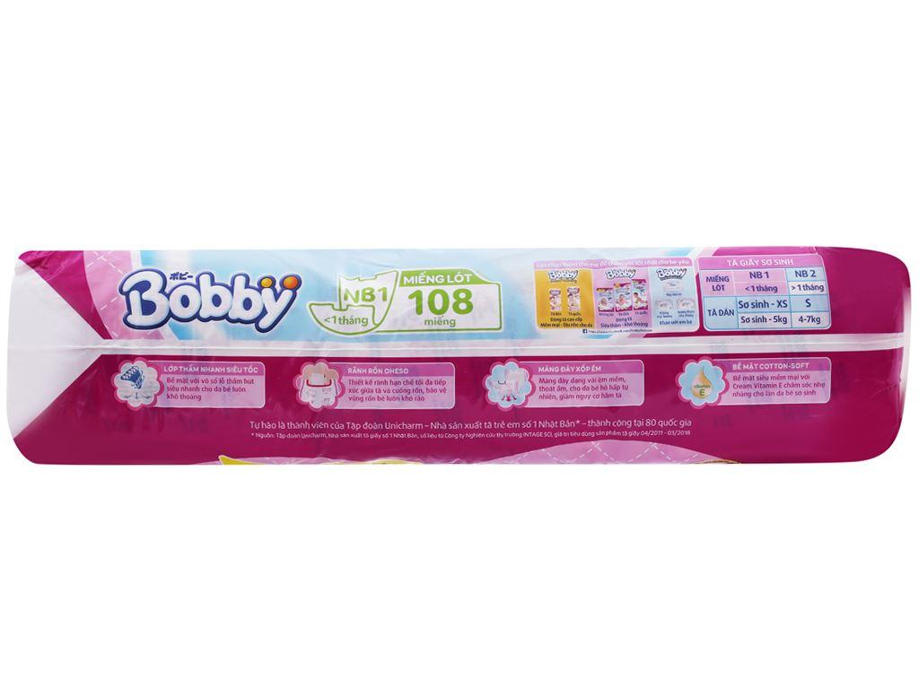 Miếng lót sơ sinh Bobby Newborn 108 miếng (cho bé dưới 1 tháng) 3