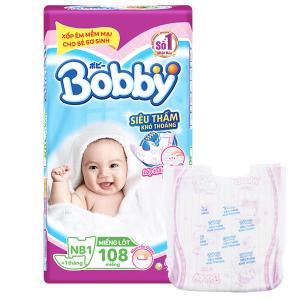 Miếng lót sơ sinh Bobby Newborn 108 miếng (cho bé dưới 1 tháng)