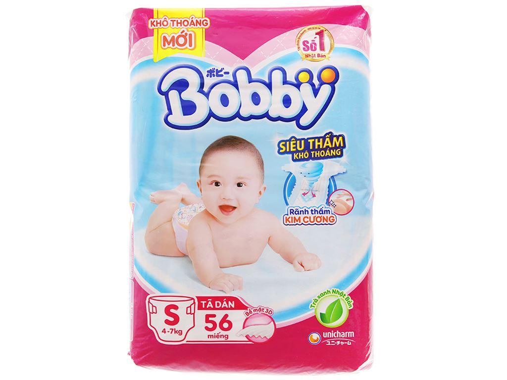 Tã dán Bobby Fresh size S 56 miếng (cho bé 4 - 7kg) 1