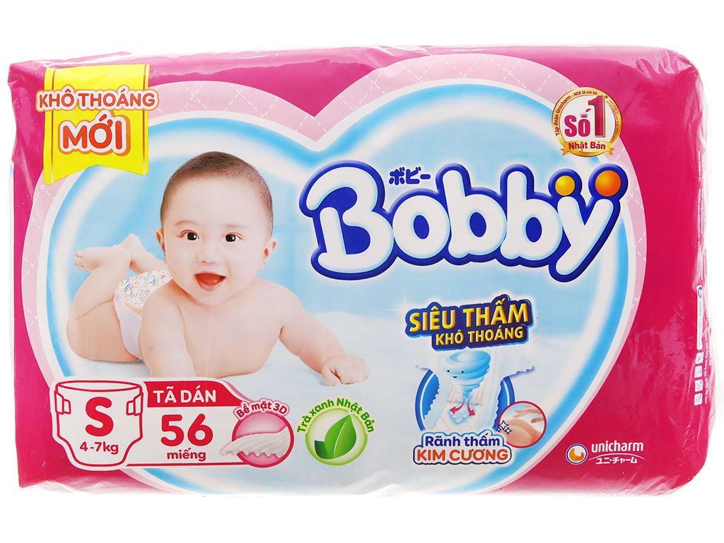 Tã dán Bobby Fresh size S 56 miếng (cho bé 4 - 7kg) 2