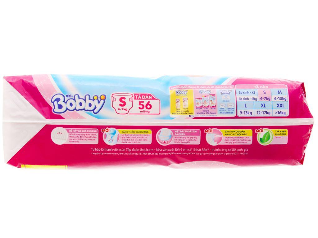 Tã dán Bobby Fresh size S 56 miếng (cho bé 4 - 7kg) 3