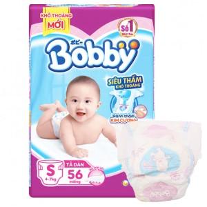 Tã dán Bobby Fresh size S 56 miếng (cho bé 4 - 7kg)