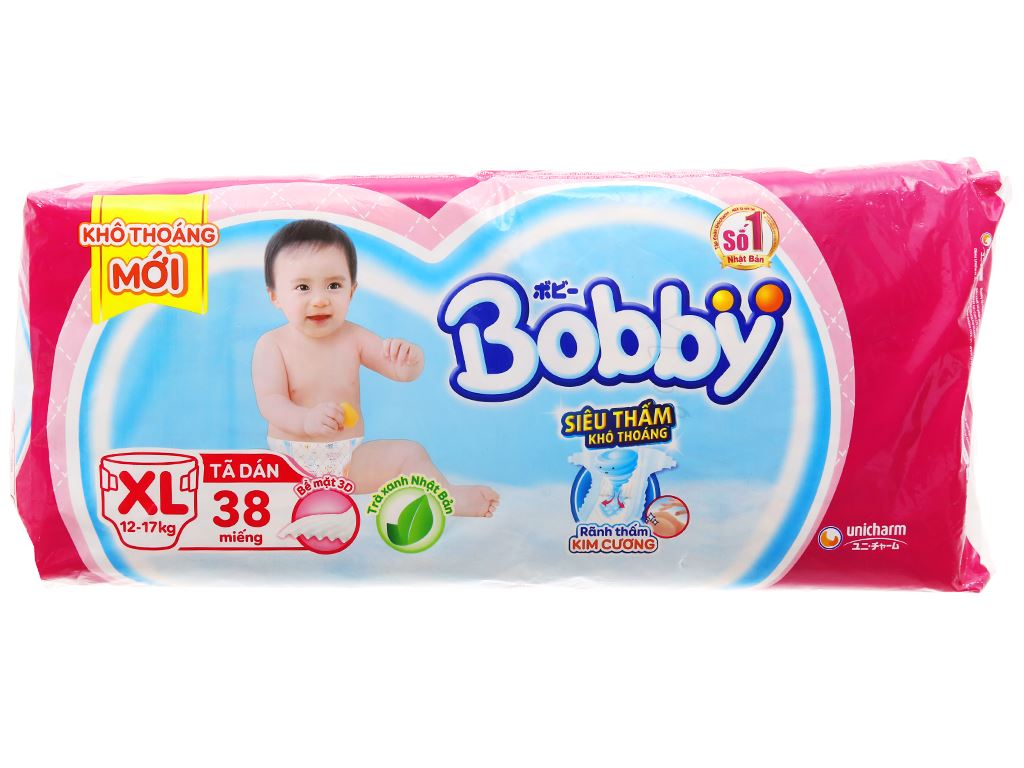 Tã dán Bobby Fresh size XL 38 miếng (cho bé 12 - 17kg) 2