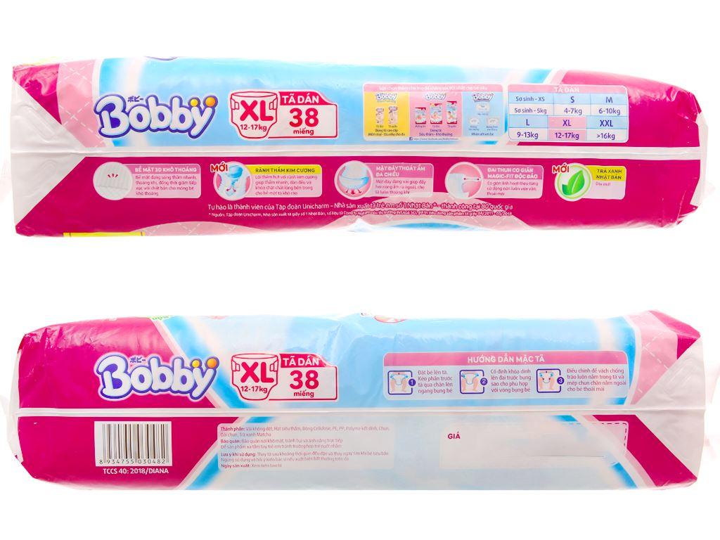 Tã dán Bobby Fresh size XL 38 miếng (cho bé 12 - 17kg) 3
