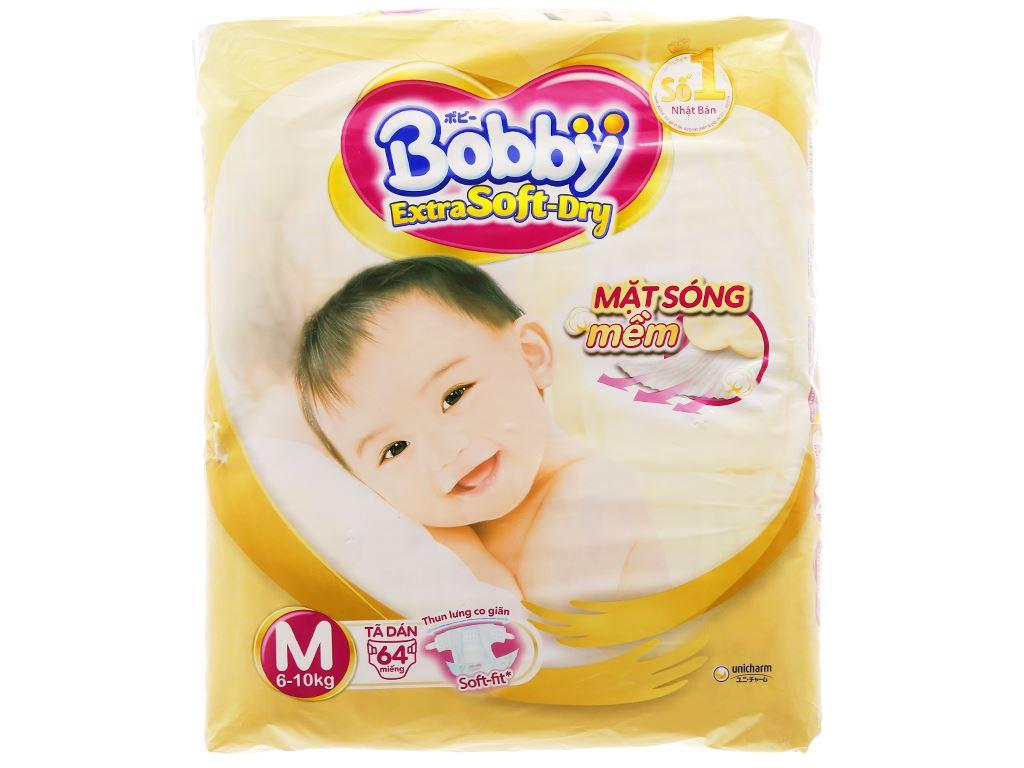 Tã dán Bobby Extra Soft Dry size M 64 miếng (cho bé 6 - 10kg) 1
