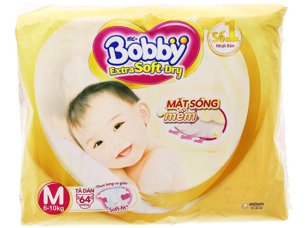 Tã dán Bobby Extra Soft Dry size M 64 miếng (cho bé 6 - 10kg) 2