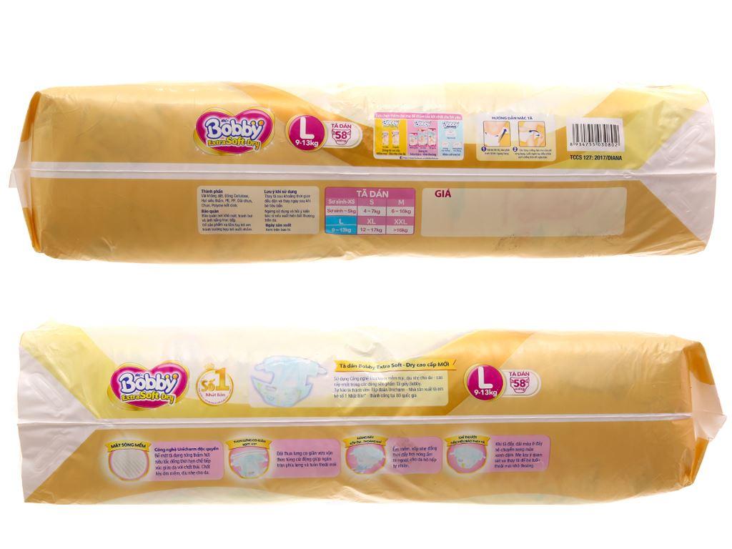Tã dán Bobby Extra Soft Dry size L 58 miếng (cho bé 9 - 13kg) 2