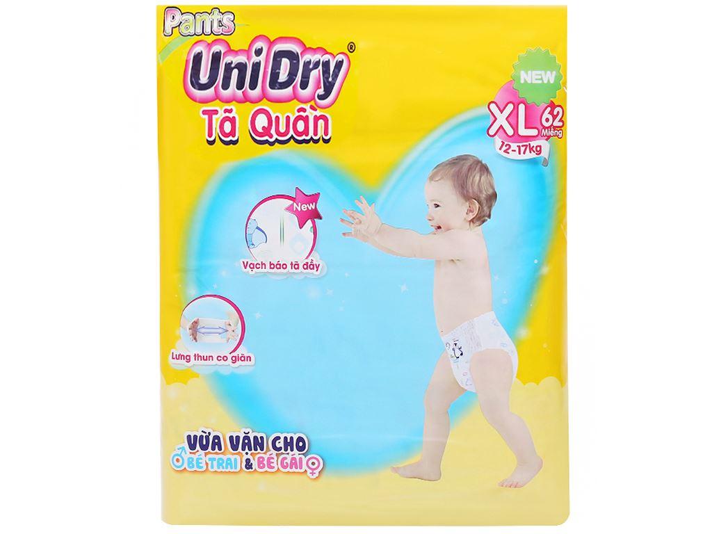Tã quần Unidry size XL 62 miếng (cho bé 12 - 17kg) 1