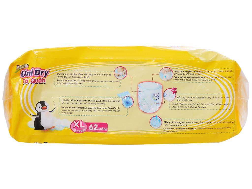 Tã quần Unidry size XL 62 miếng (cho bé 12 - 17kg) 3