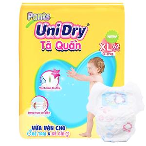 Tã quần Unidry size XL 62 miếng (cho bé 12 - 17kg)