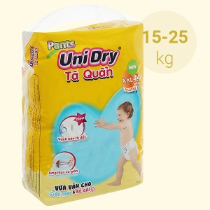 Tã quần Unidry size XXL 44 miếng (cho bé 15 - 25kg)