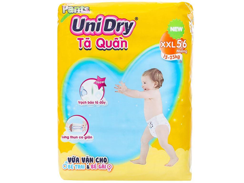 Tã quần Unidry size XXL 56 miếng (cho bé 15 - 25kg) 1