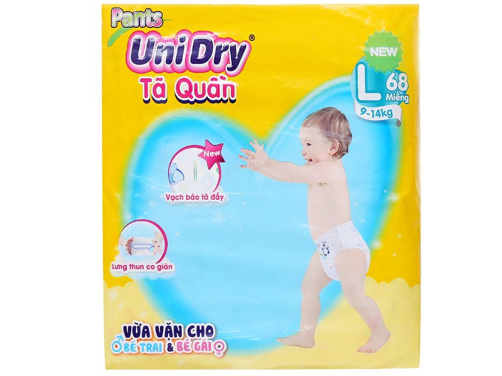 Tã quần Unidry size L 68 miếng (cho bé 9 - 14kg) 1
