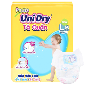 Tã quần Unidry size L 68 miếng (cho bé 9 - 14kg)