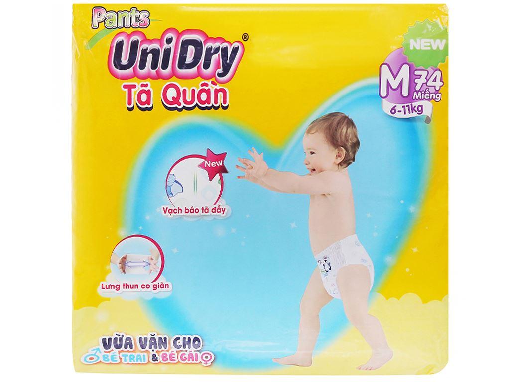 Tã quần Unidry size M 74 miếng (cho bé 6 - 11kg) 1