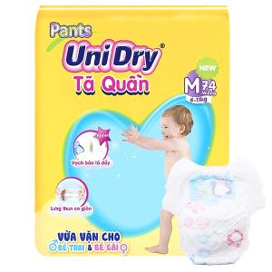 Tã quần Unidry size M 74 miếng (cho bé 6 - 11kg)