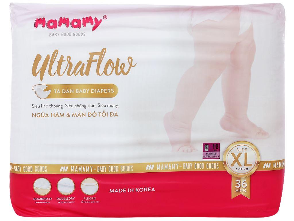 Tã dán Mamamy Ultraflow size XL 36 miếng (cho bé từ 13kg) 1