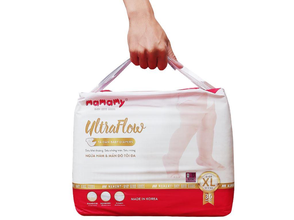 Tã dán Mamamy Ultraflow size XL 36 miếng (cho bé từ 13kg) 2