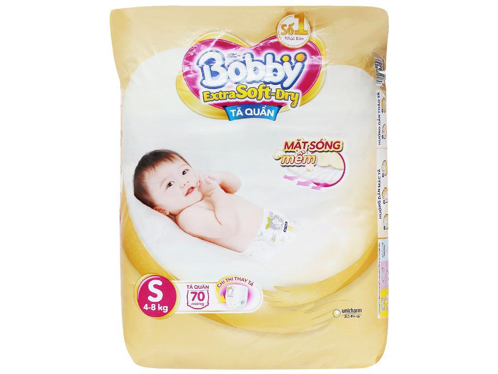 Tã quần Bobby Extra Soft Dry size S 70 miếng (cho bé 4 - 7kg) 2