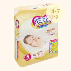 Tã quần Bobby Extra Soft Dry size S 70 miếng (cho bé 4 - 7kg)