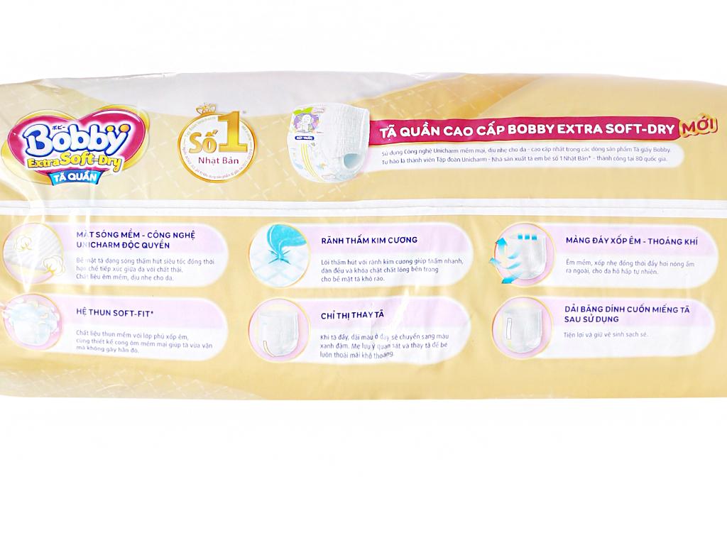 Tã quần Bobby Extra Soft Dry size M 64 miếng (cho bé 6 - 10kg) 5