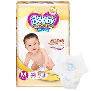Tã quần Bobby Extra Soft Dry size M 64 miếng (cho bé 6 - 10kg)