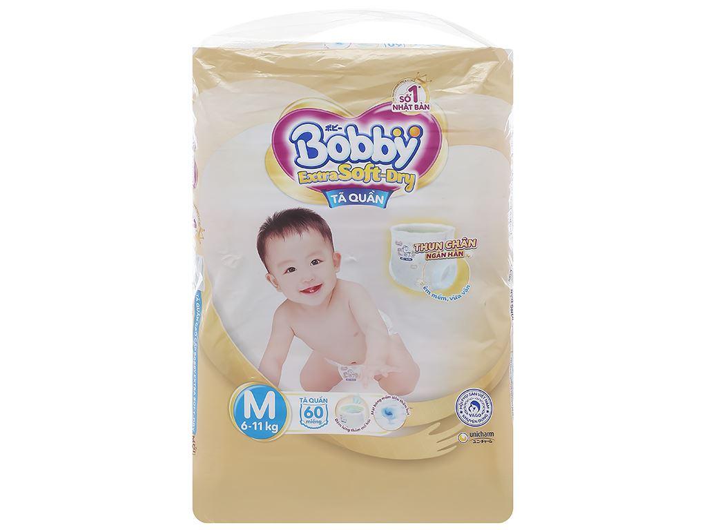 Tã quần Bobby Extra Soft Dry size M 64 miếng (cho bé 6 - 10kg) 1
