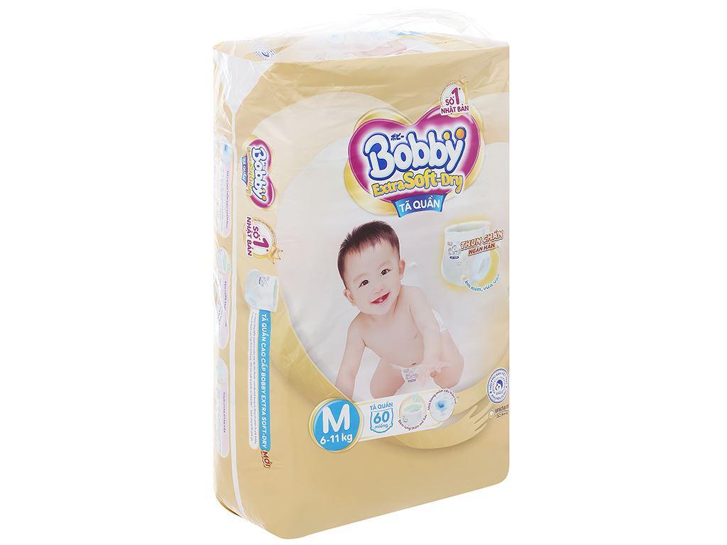 Tã quần Bobby Extra Soft Dry size M 64 miếng (cho bé 6 - 10kg) 2