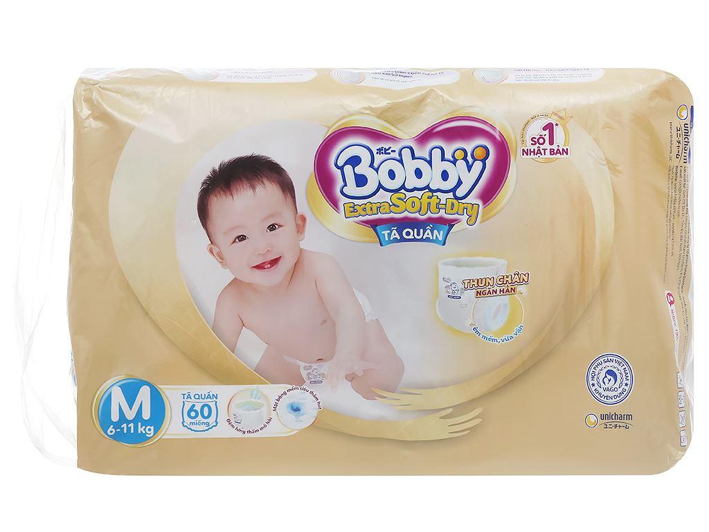 Tã quần Bobby Extra Soft Dry size M 64 miếng (cho bé 6 - 10kg) 3