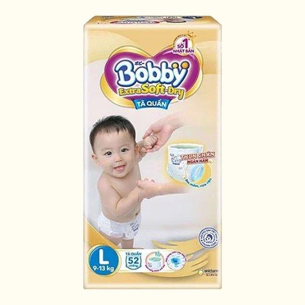 Tã quần Bobby Extra Soft Dry size L 52 miếng (cho bé 9 - 13kg)