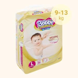 Tã quần Bobby Extra Soft Dry size L 56 miếng (cho bé 9 - 13kg)