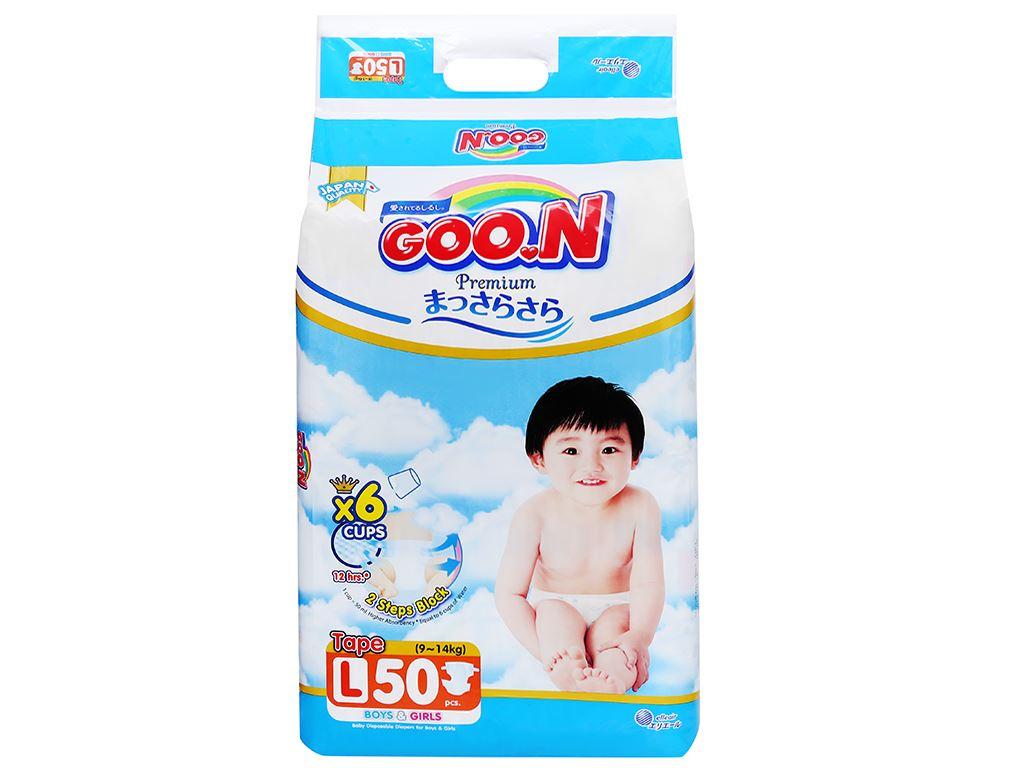 Tã dán Goo.n Premium size L 50 miếng (cho bé 9 - 14kg) 2
