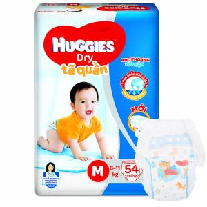 Tã quần Huggies Dry size M 54 miếng (cho bé 6 - 11kg)