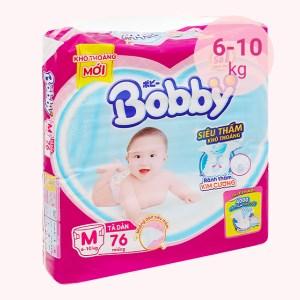 Tã dán Bobby size M 76 miếng (cho bé 6 - 10kg)