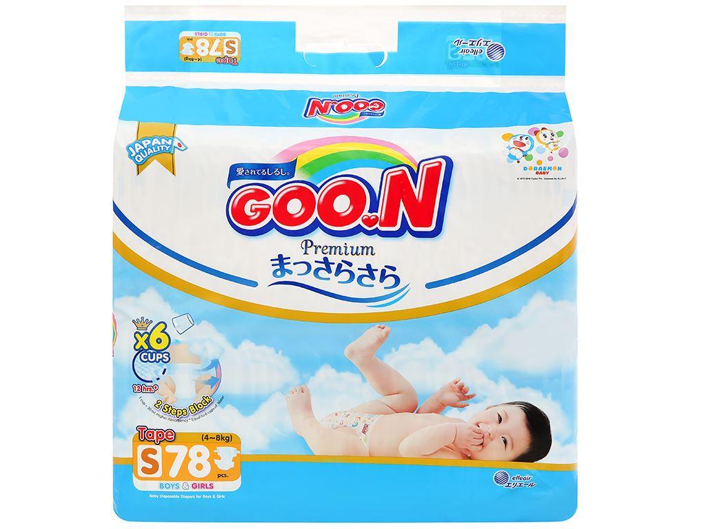 Tã dán Goo.n Premium size S 78 miếng (cho bé 4 - 8kg) 1
