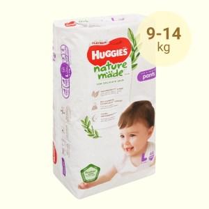 Tã quần Huggies Platinum natural made size L 44 miếng (cho bé 9 - 14kg)