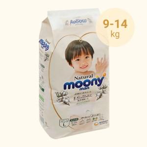 Tã quần Moony Natural man size L 36 miếng (cho bé 9 - 14kg)