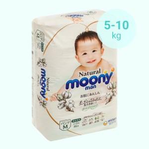 Tã quần Moony Natural man size M 46 miếng (cho bé 5 - 10kg)