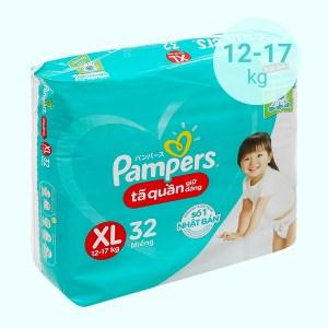 Tã quần giữ dáng Pampers size XL 32 miếng (cho bé 12 - 17kg)