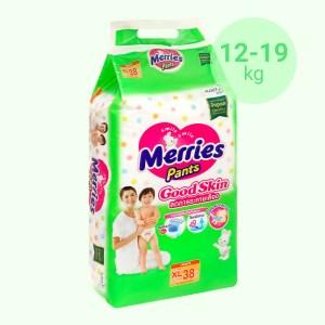 Tã quần Merries Good Skin size XL 38 miếng (cho bé 12 - 19kg)